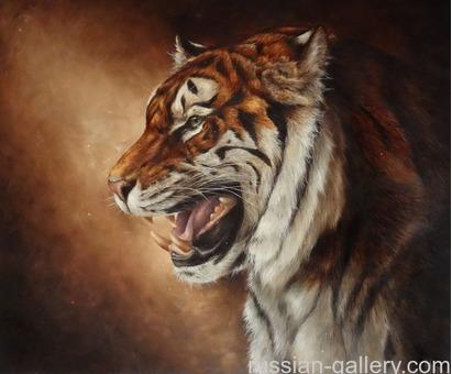 """Картина маслом """"Амурский тигр"""""""