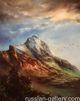 """Картина маслом """"Гора"""""""