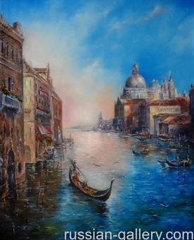 """Картина маслом """"Вечерняя Венеция"""""""""""