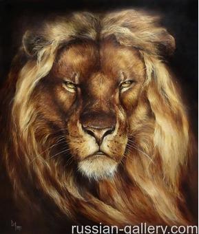 "Картина маслом ""Царь зверей"""