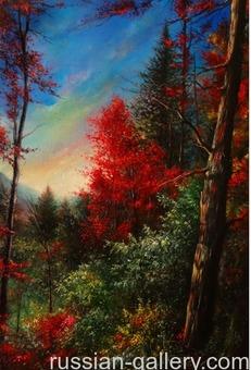 """Картина маслом """"Осенний вечер"""""""