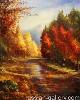 """Картина маслом """"Осенний день"""""""