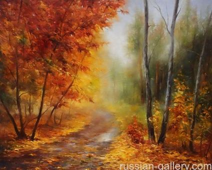 """Картина маслом """"Осенний этюд"""""""