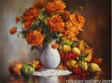 "Картина маслом ""Осенний натюрморт"""