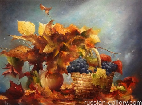 """Картина маслом """"Осенний букет"""""""