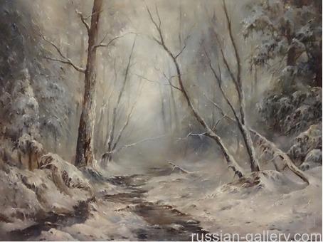 "Картина маслом ""В зимнем лесу"""